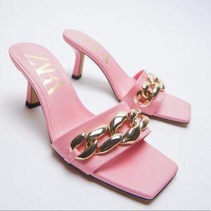 ZARA Sandals with Chain